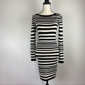French Connection Sweater Dress Striped Bodycon